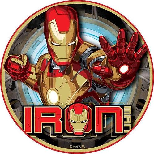 """Iron Man 8"""" Round Edible Cake Topper #6"""