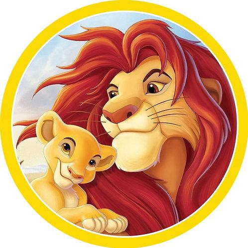 "Lion King 8"" Round Edible Cake Topper"