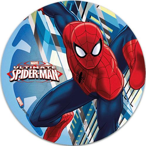 "Spiderman 8"" Round Edible Cake Topper #4"