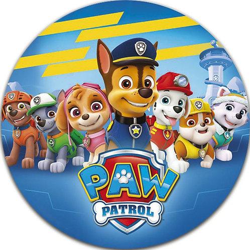 "Paw Patrol 8"" Round Edible Cake Topper #6"