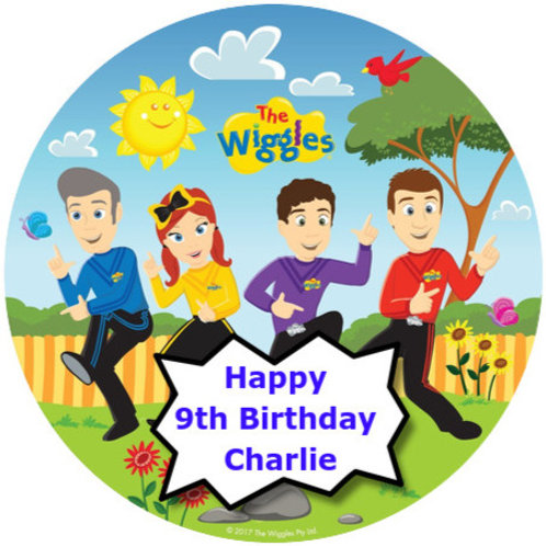 "The Wiggles Personalised 8"" Round Edible Cake Topper"