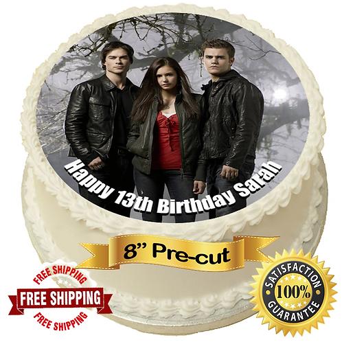 "Vampire Diaries Personalised 8"" Round Edible Cake Topper"