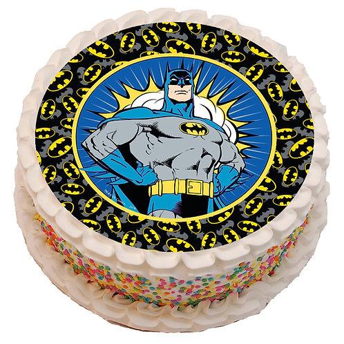 """Batman Theme 8"""" Round Edible Cake Topper"""