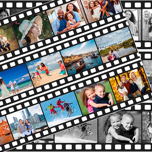 Personalised Film Reel Cake Wrap - 3 Strips And 15 Images Icing Sheet