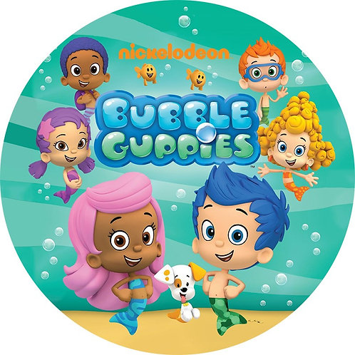 "Bubble Guppies 8"" Round Edible Cake Topper #2"