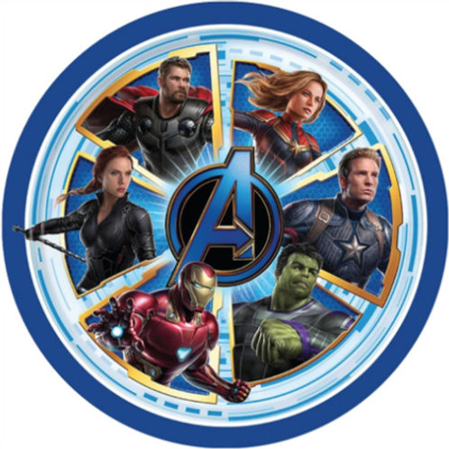 """The Avengers End Game 8"""" Round Edible Cake Topper #1"""