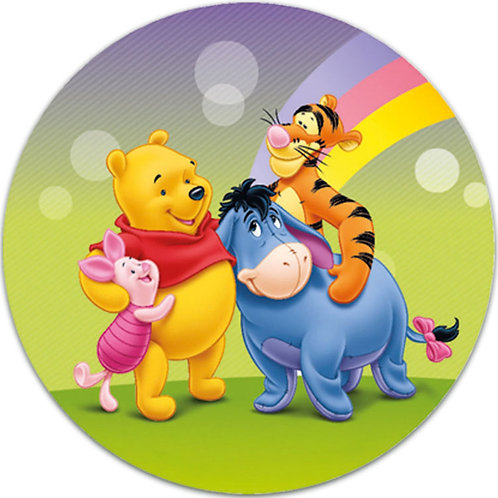 """Winnie The Pooh 8"""" Round Edible Cake Topper #2"""