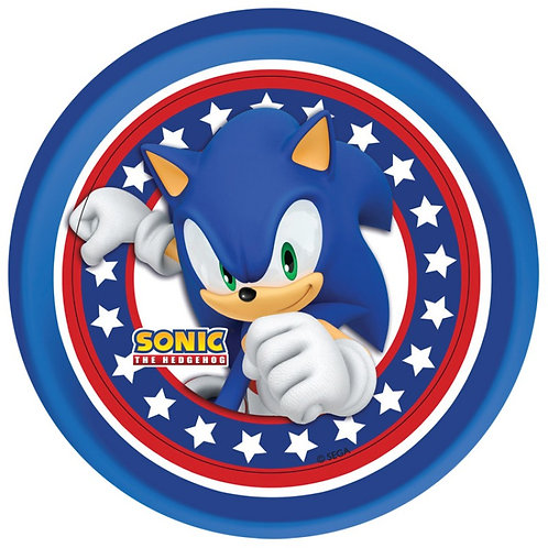 """Sonic The Hedgehog 8"""" Round Edible Cake Topper"""