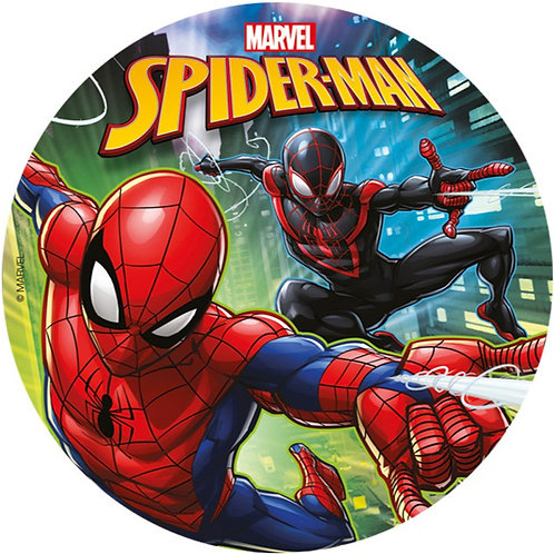 "Spiderman 8"" Round Edible Cake Topper #3"