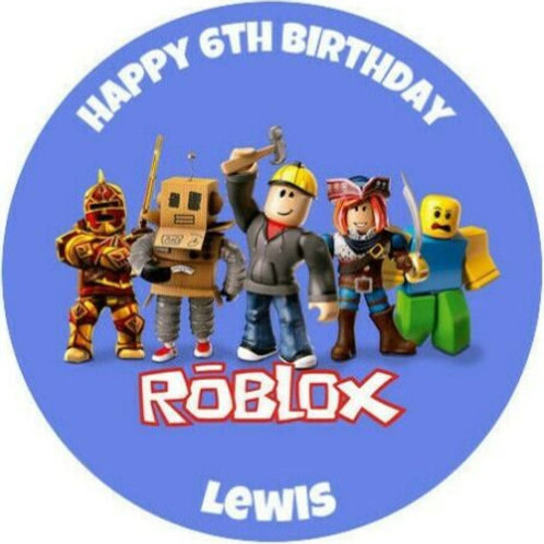 "Roblox Personalised 8"" Round Edible Cake Topper #3"