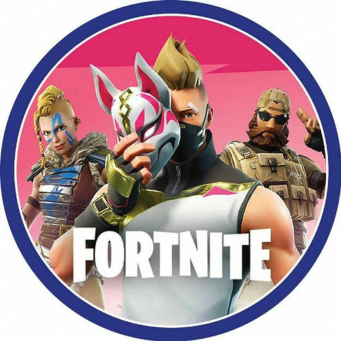 "Fortnite 8"" Round Edible Cake Topper #6"