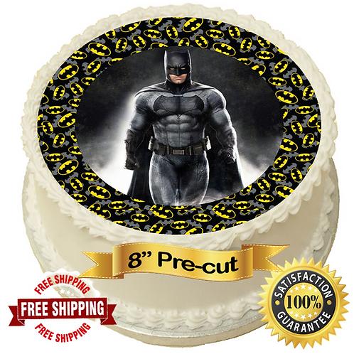"Batman Themed 8"" Round Edible Cake Topper"
