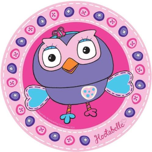 "Hoot-Hootabelle 8"" Round Edible Cake Topper #1"