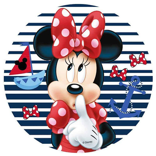 """Minnie Mouse 8"""" Round Edible Cake Topper #6"""