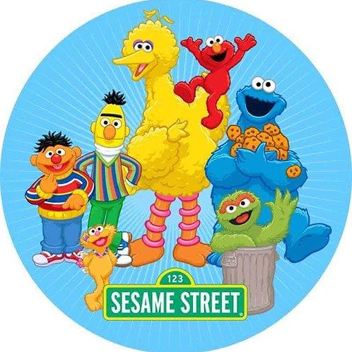 "Sesame Street 8"" Round Edible Cake Topper"