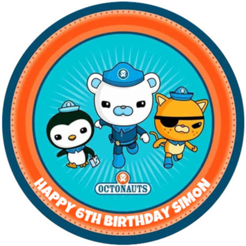 "Octonauts Personalised 8"" Round Edible Cake Topper"