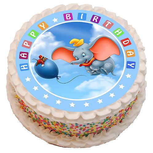 "Dumbo Theme 8"" Round Edible Cake Topper"