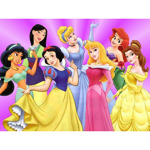 Princess Friends Edible A4 Sized Cake Topper