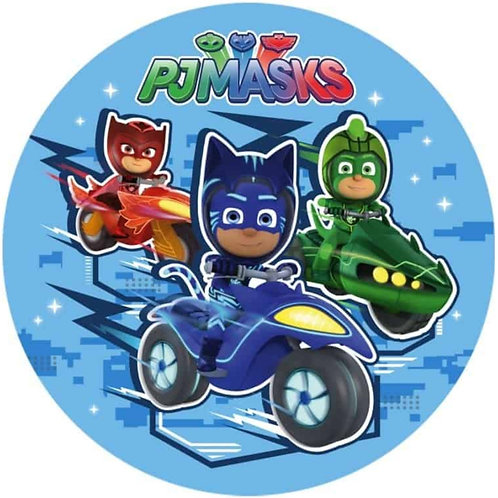 "PJ Masks 8"" Round Edible Cake Topper #1"