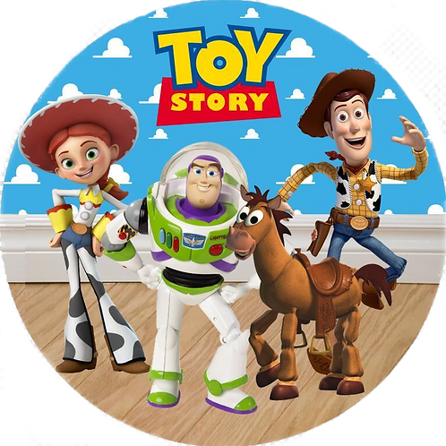 """Toy Story Friends 8"""" Round Edible Cake Topper"""