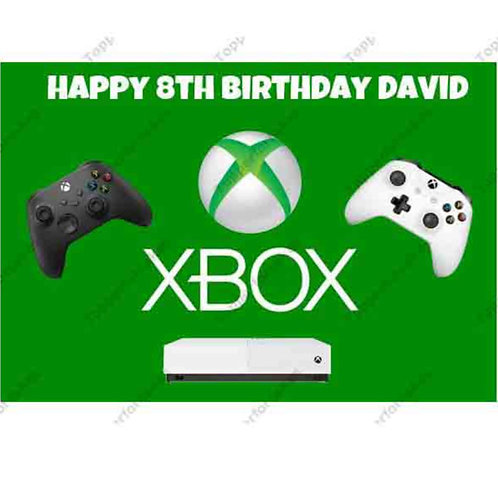 Xbox Personalised Edible A4 Sized Cake Topper