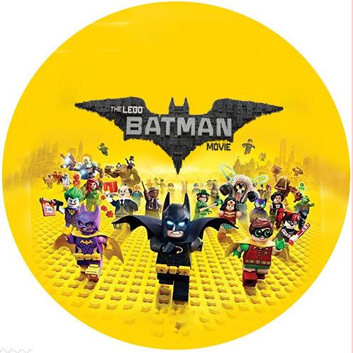 "Lego Batman 8"" Round Edible Cake Topper #1"