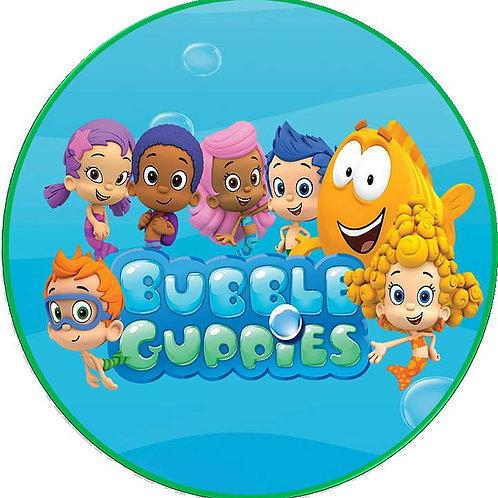 "Bubble Guppies 8"" Round Edible Cake Topper #3"
