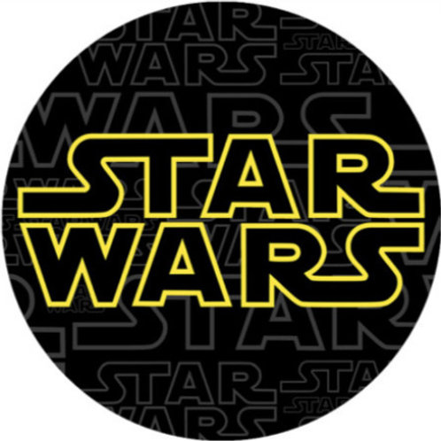 "Star Wars 8"" Round Edible Cake Topper"