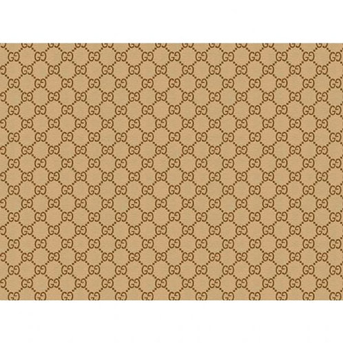 Gucci Light Brown Patterned Edible A4 Sized Cake Topper