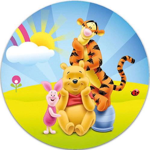 """Winnie The Pooh 8"""" Round Edible Cake Topper #1"""