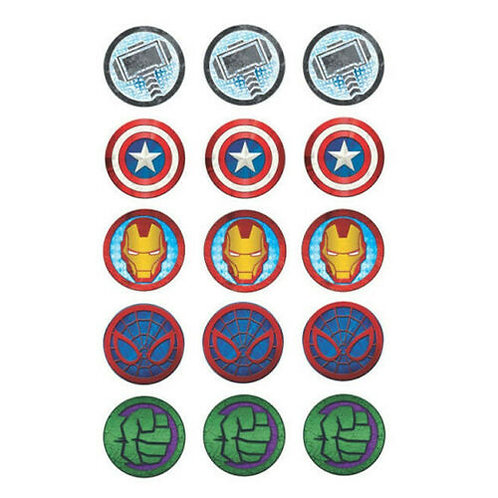 15 x Marvel Edible Cupcake Toppers