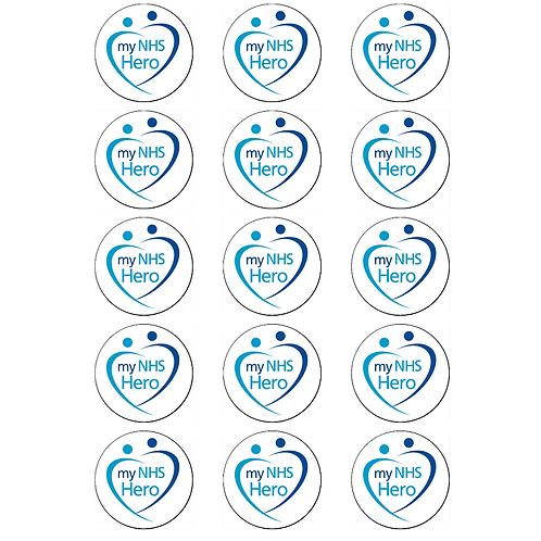 15 x NHS Heroes Edible Cupcake Toppers #3