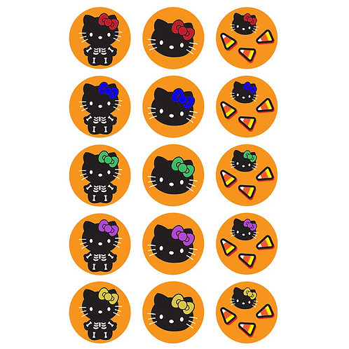 15 x Hello Kitty Halloween Edible Cupcake Toppers #3