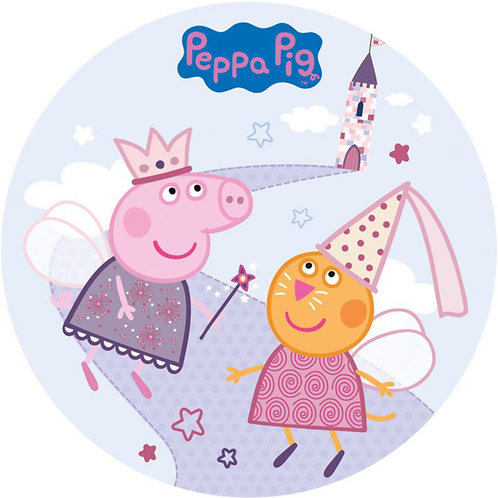 """Peppa Pig 8"""" Round Edible Cake Topper #2"""