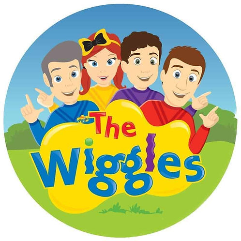 "Wiggles 8"" Round Edible Cake Topper"