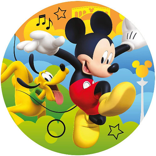 """Mickey Mouse 8"""" Round Edible Cake Topper #1"""
