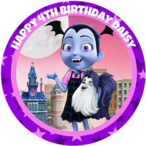 "Vampirina Personalised 8"" Round Edible Cake Topper"