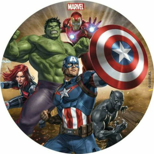 """The Avengers 8"""" Round Edible Cake Topper #3"""