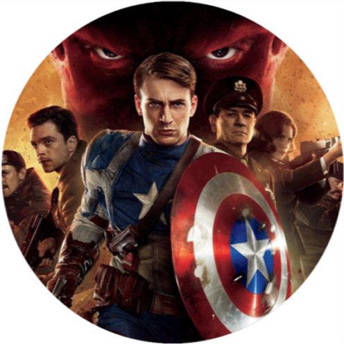"Captain America 8"" Round Edible Cake Topper"
