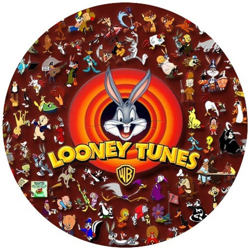 """Looney Tunes 8"""" Round Edible Cake Topper"""