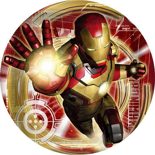 "Iron Man 8"" Round Edible Cake Topper #7"