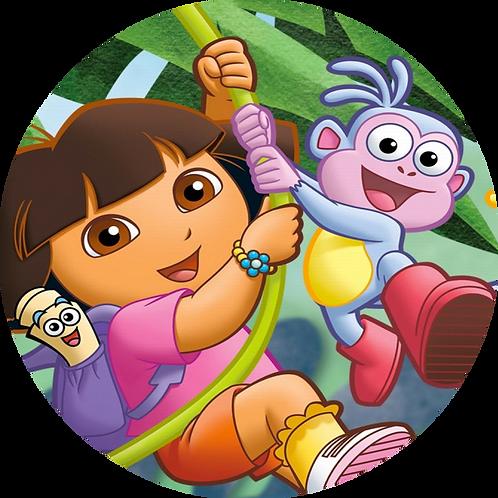 """Dora The Explorer 8"""" Round Edible Cake Topper"""