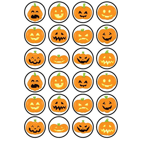 24 x Halloween Edible Cupcake Toppers #4