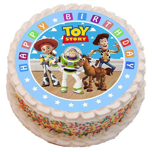 "Toy Story Theme 8"" Round Edible Cake Topper"