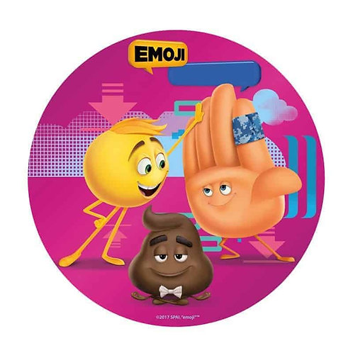 "Emoji 8"" Round Edible Cake Topper #2"
