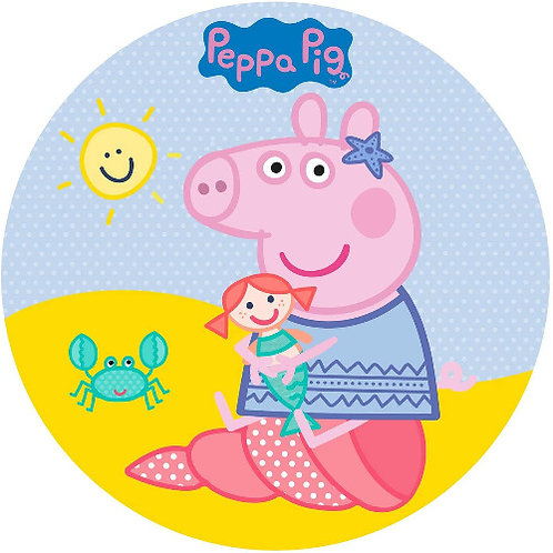 """Peppa Pig 8"""" Round Edible Cake Topper #4"""