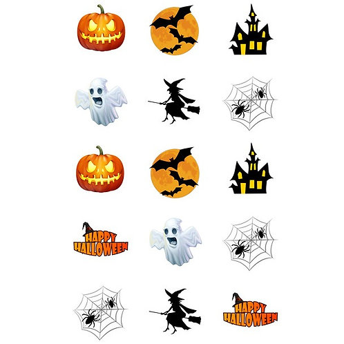 15 x Halloween Edible Cupcake Toppers #2