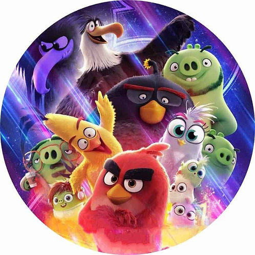 """Angry Birds 8"""" Round Edible Cake Topper #3"""
