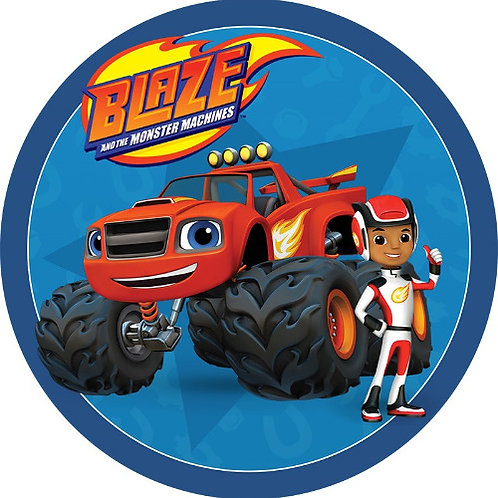 "Blaze 8"" Round Edible Cake Topper"