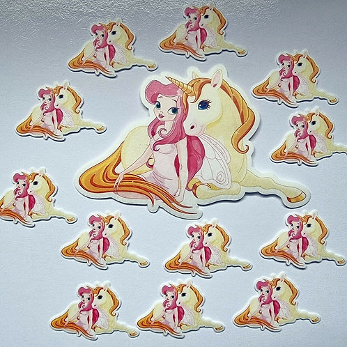 Unicorn And Fairy Precut Edible Wafer Cupcake / Cake Toppers